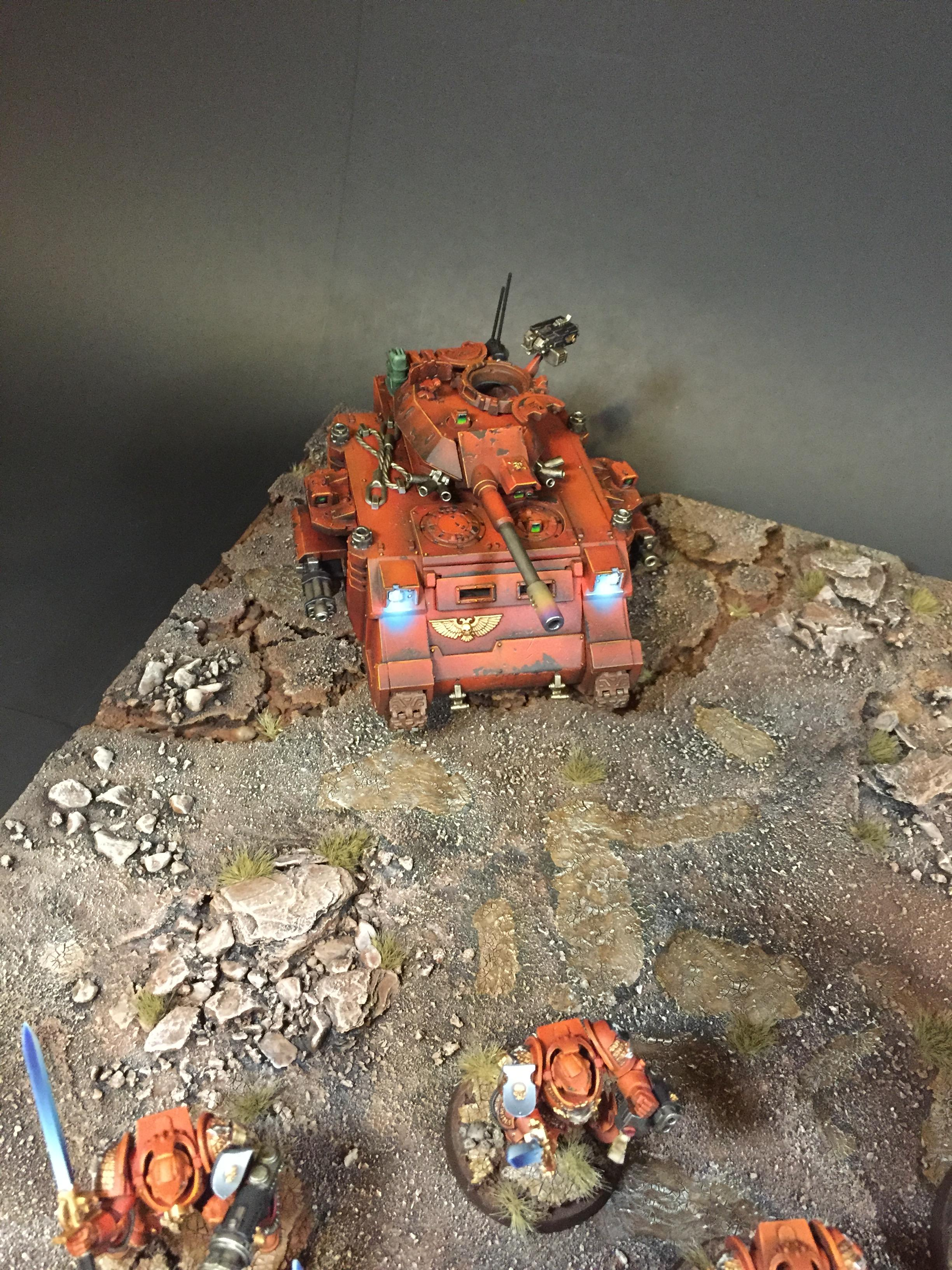 Armies On Parade, Predator With Led, Space Marines, Warhammer 40,000