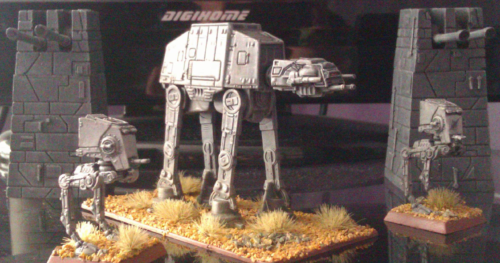 AT-AT, Empire, Epic, Imperial, Mech, Robot, Sentinel, Star Wars, Transport, Walker, X-Wing