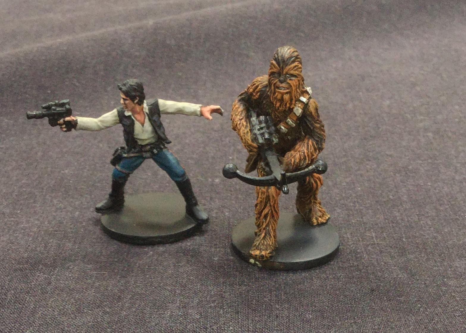 Chewbacca, Han Solo, Miniature, Star Wars