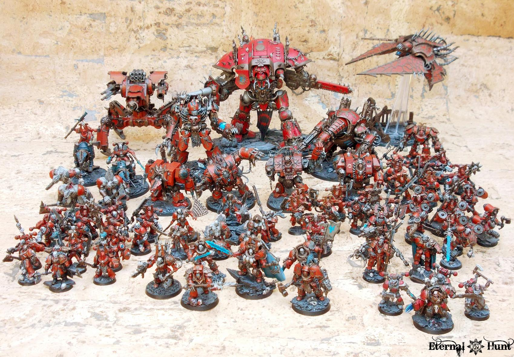 4th Assault Company, Army Showcase, Berserkers, Chaos, Chaos Space Marines, Khorne, Khorne's Eternal Hunt, Warhammer 40,000, World Eaters, Xii Legion