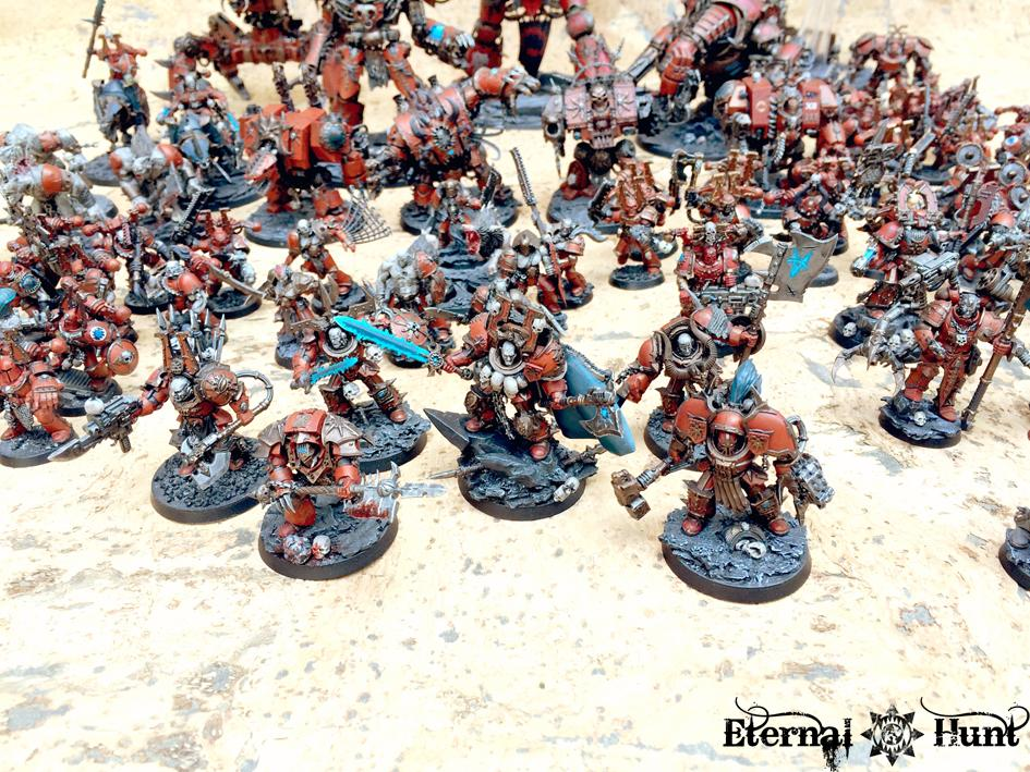 4th Assault Company, Army Showcase, Berserkers, Chaos, Chaos Lord, Chaos Space Marines, Khorne, Khorne's Eternal Hunt, Lorimar, Warhammer 40,000, World Eaters, Xii Legion