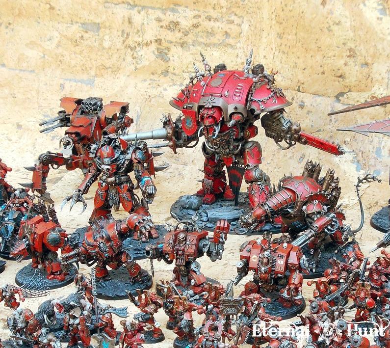 4th Assault Company, Army Showcase, Berserkers, Chaos, Chaos Knight, Chaos Space Marines, Gilgamesh, Khorne, Khorne's Eternal Hunt, Warhammer 40,000, World Eaters, Xii Legion