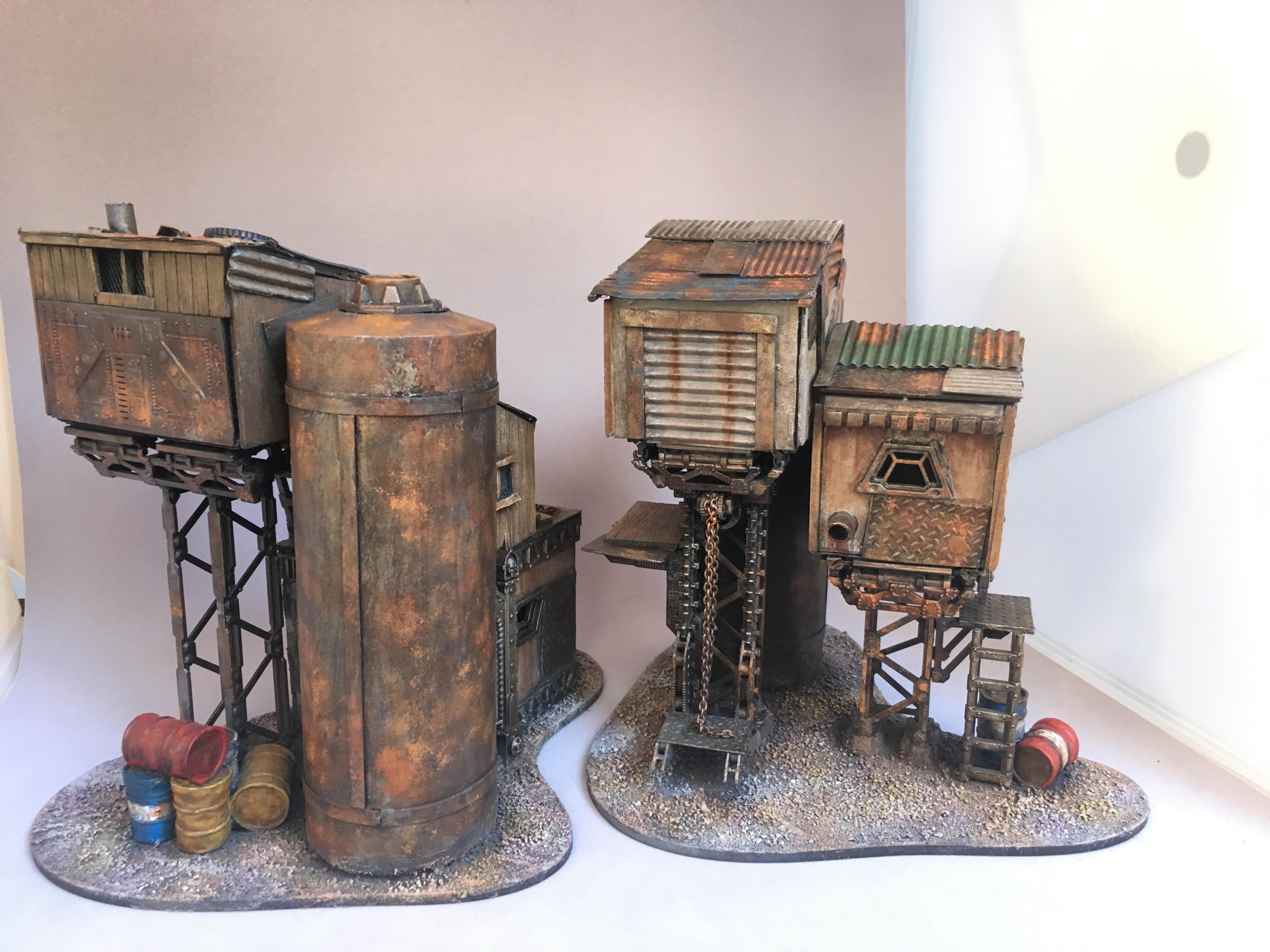 Necromunda, Rust, Scratch Build, Terrain