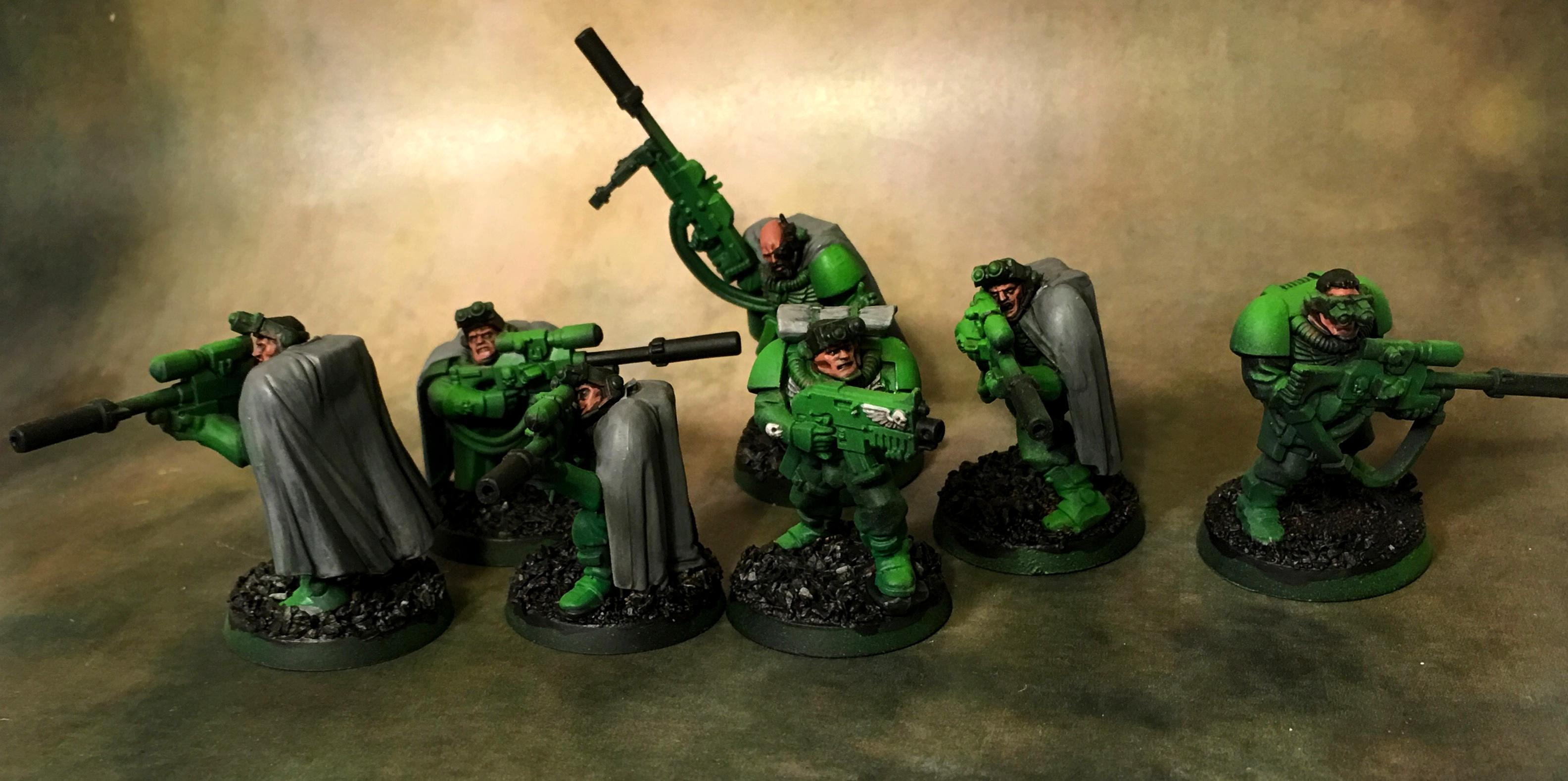 Green, Scouts, Sniper Rifles, Sons Of Medusa, Space Marines, Work In Progress