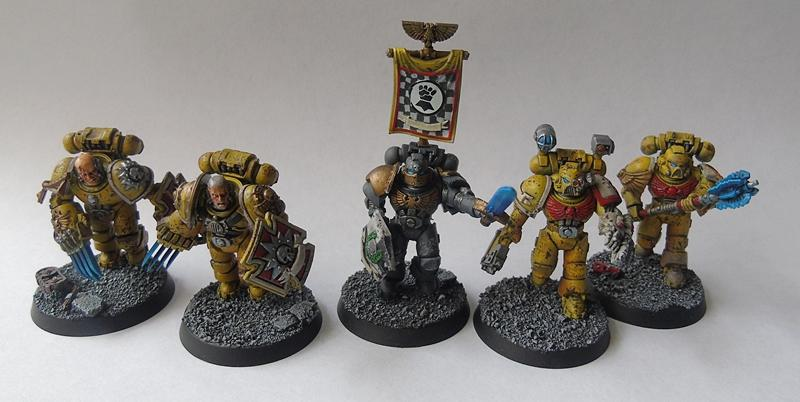 Adepus Astartes, Apothecary, Battle Damage, City, Command Squad, Imperial Fists, Rubble, Ruins, Space Marines, Urban, Veteran, Weathered, Yellow
