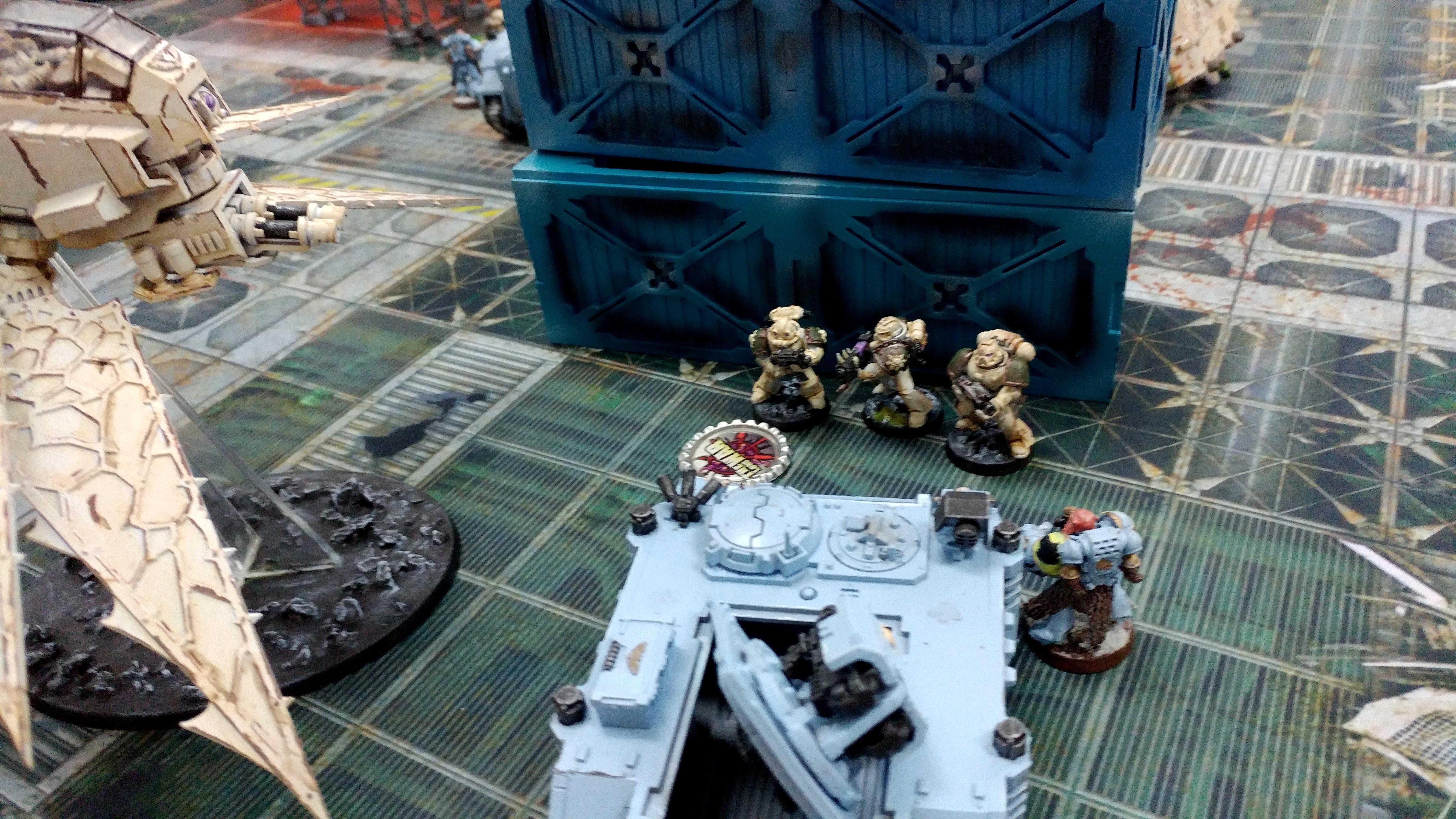 Death Guard, Heldrake, Space Wolves, Terrain, Tournament