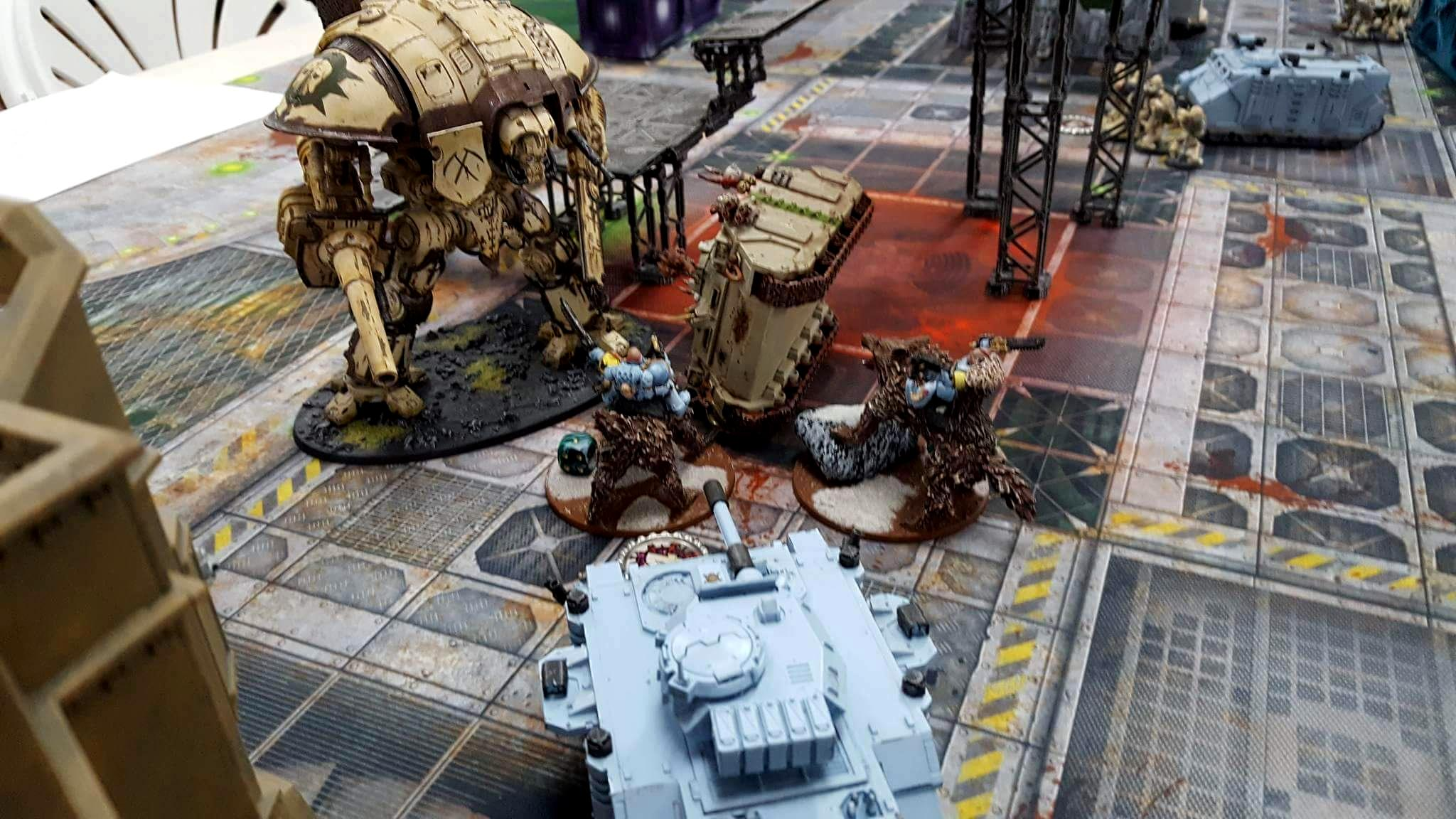 Death Guard, Knights, Space Wolves, Terrain, Tournament