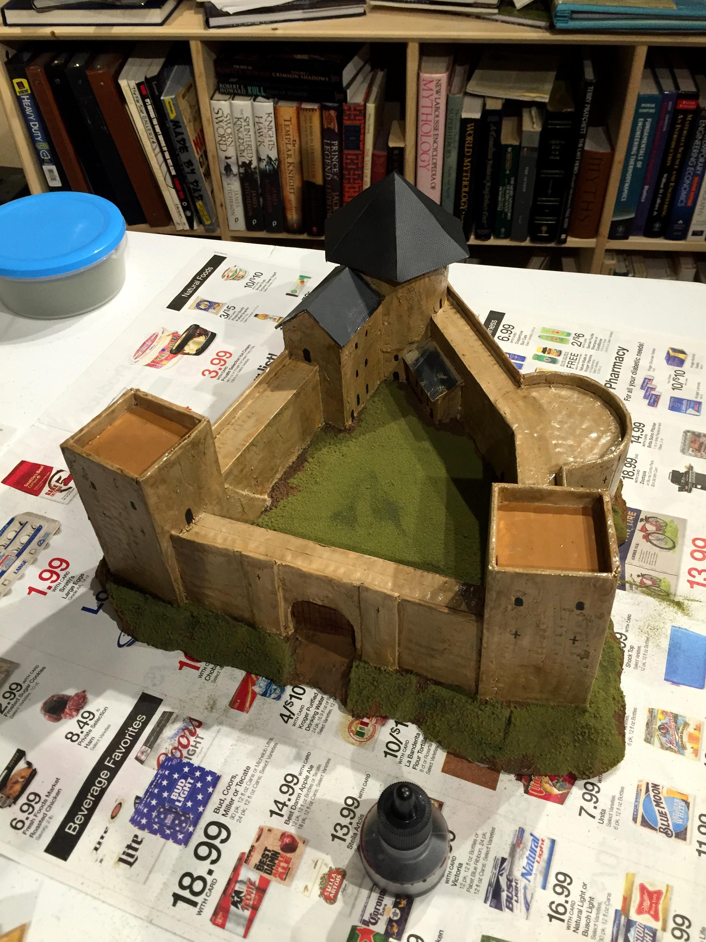 Castle, Terrain, Warmaster, Work In Progress