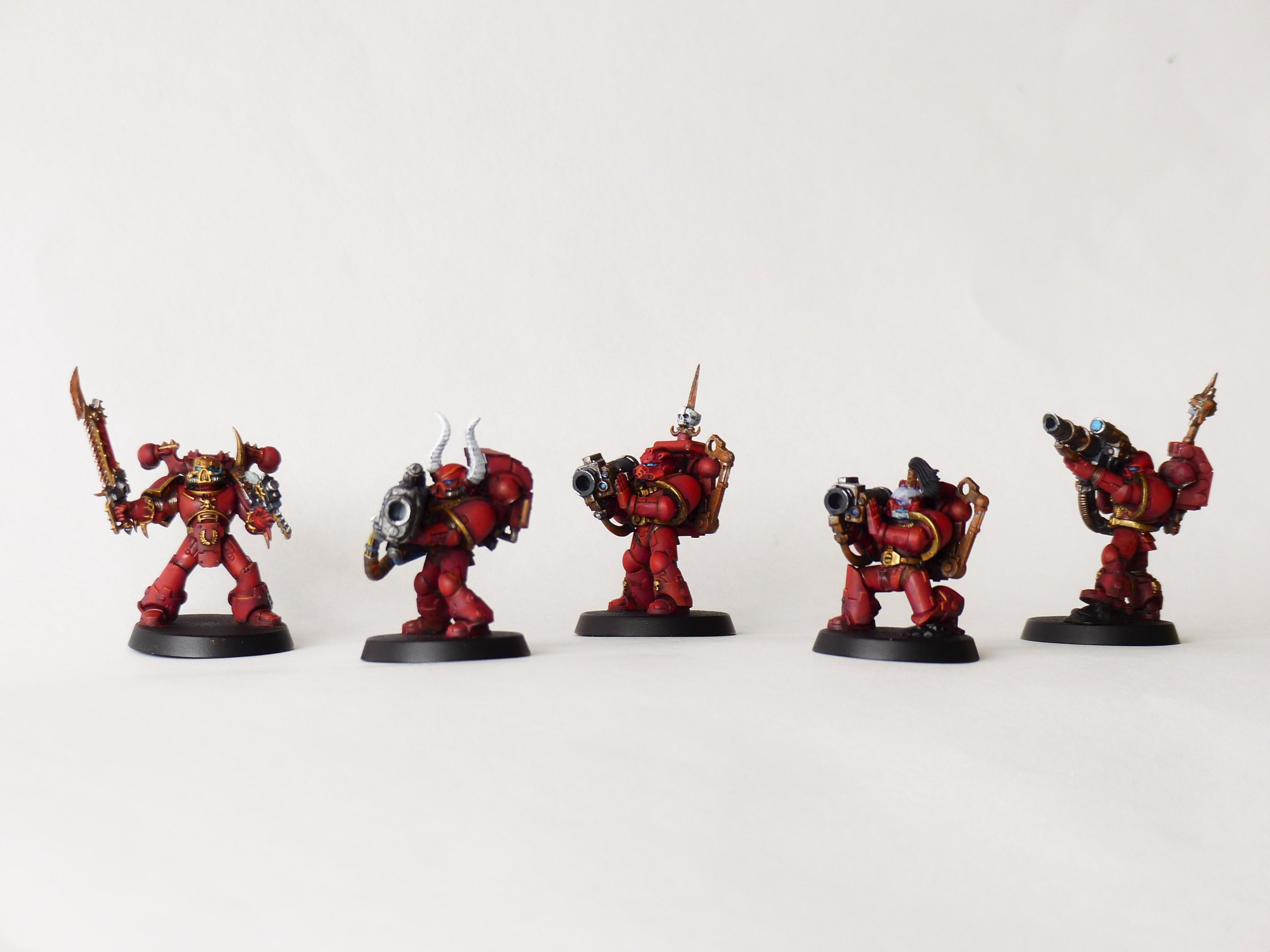 Chaos, Chaos Space Marines, Crimson Slaughter, Havocs, Heavy Weapon, Lascannon, Missile Launcher, Plasma Cannon, Space Marines