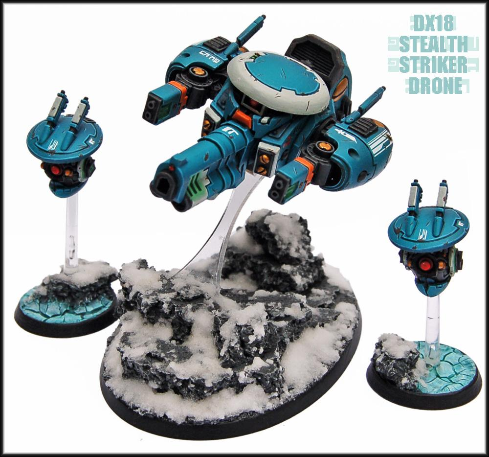 Battlesuit, Conversion, Drones, Ghostkeel, Snow, Snow Bases., Stealth Drone, Stealthsuit, Tau, Tau Empire