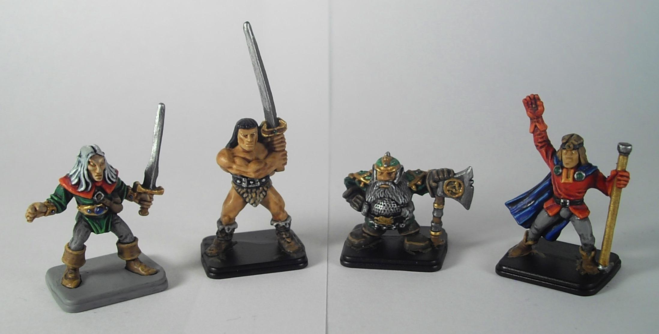 Barbarian, Dwarves, Elves, Hero Quest, Wizard