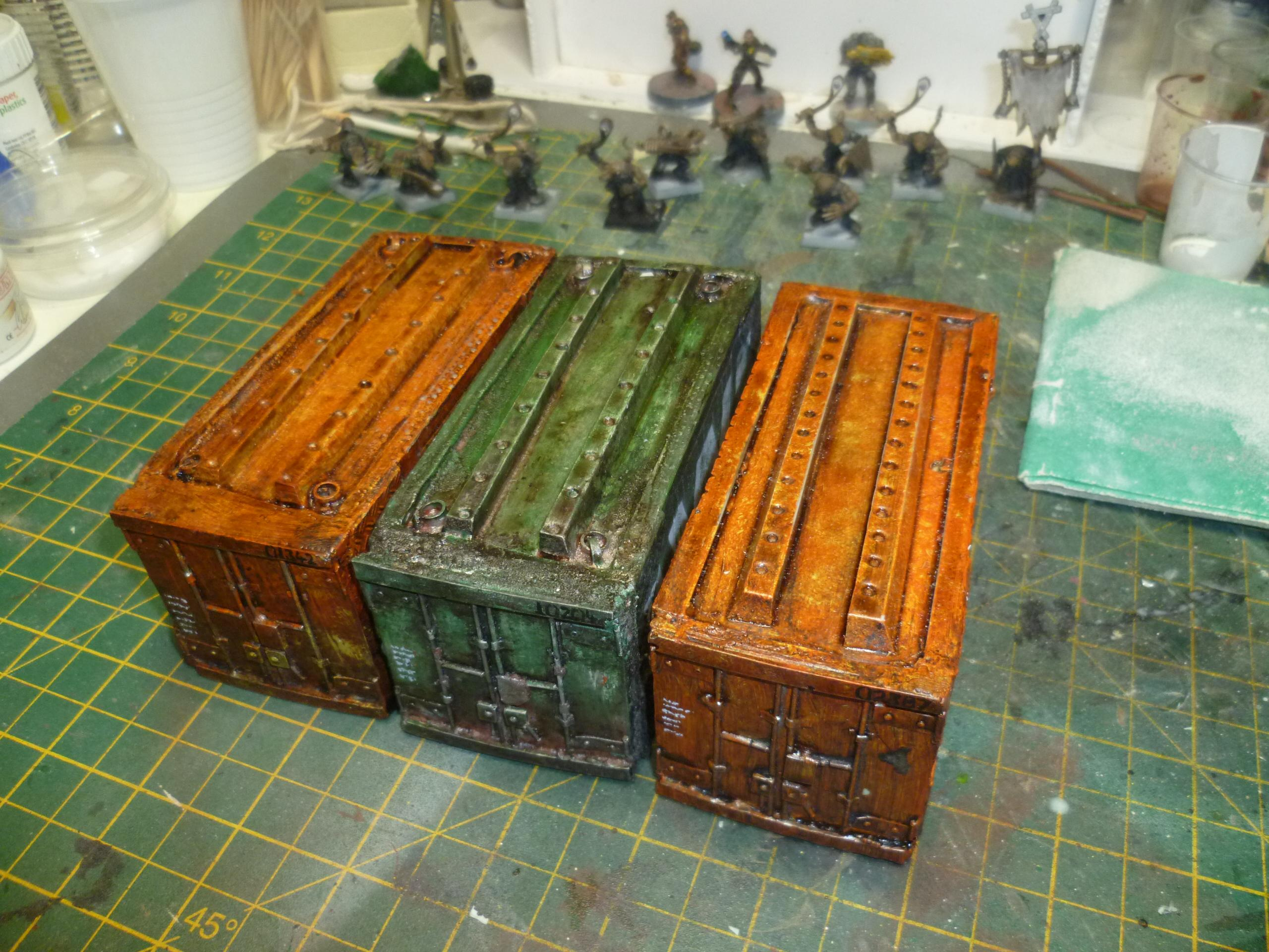 Containers, Scatter, Terrain