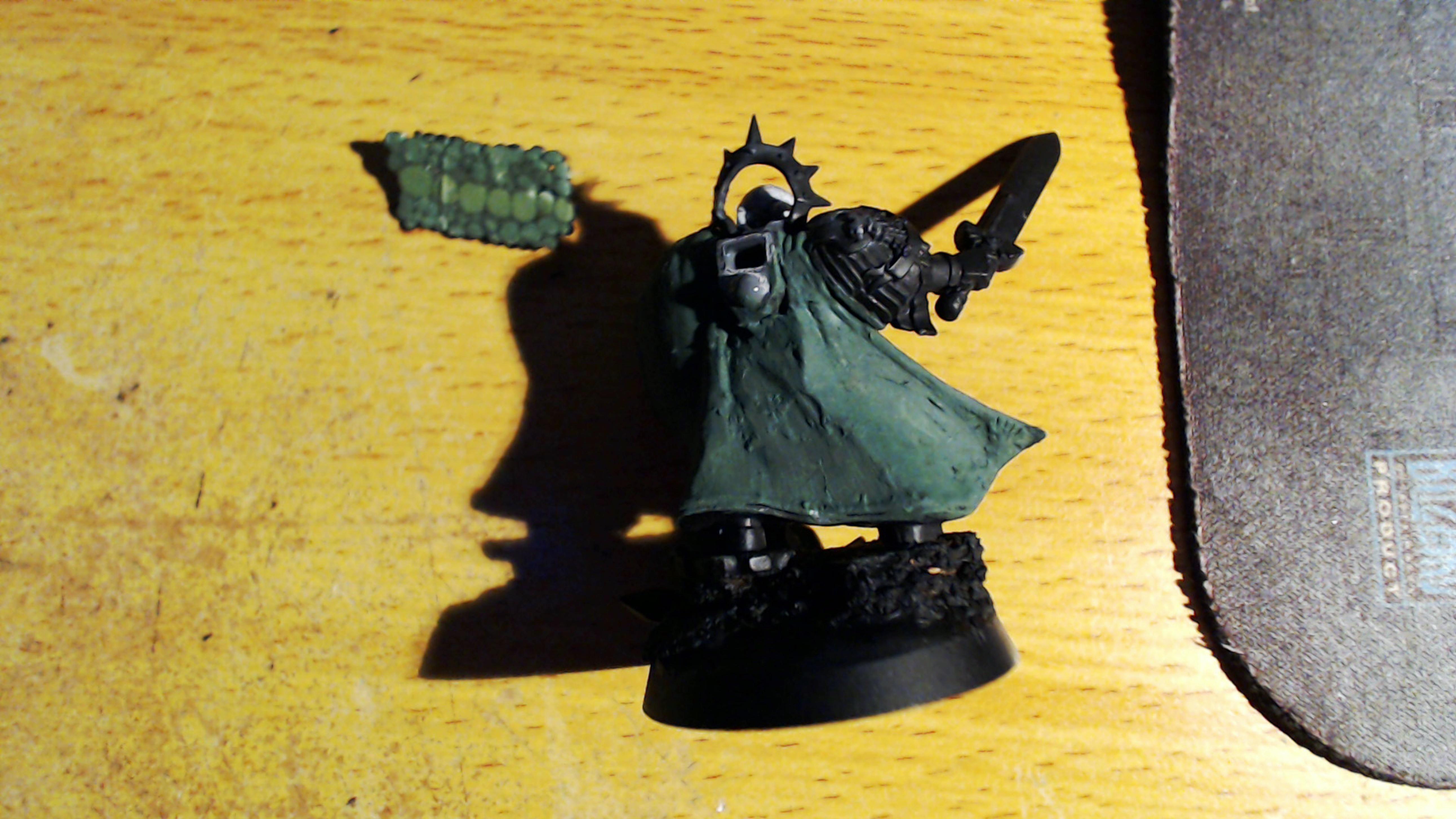 Cloak was awl messed up ! Liquid green stuff in progress