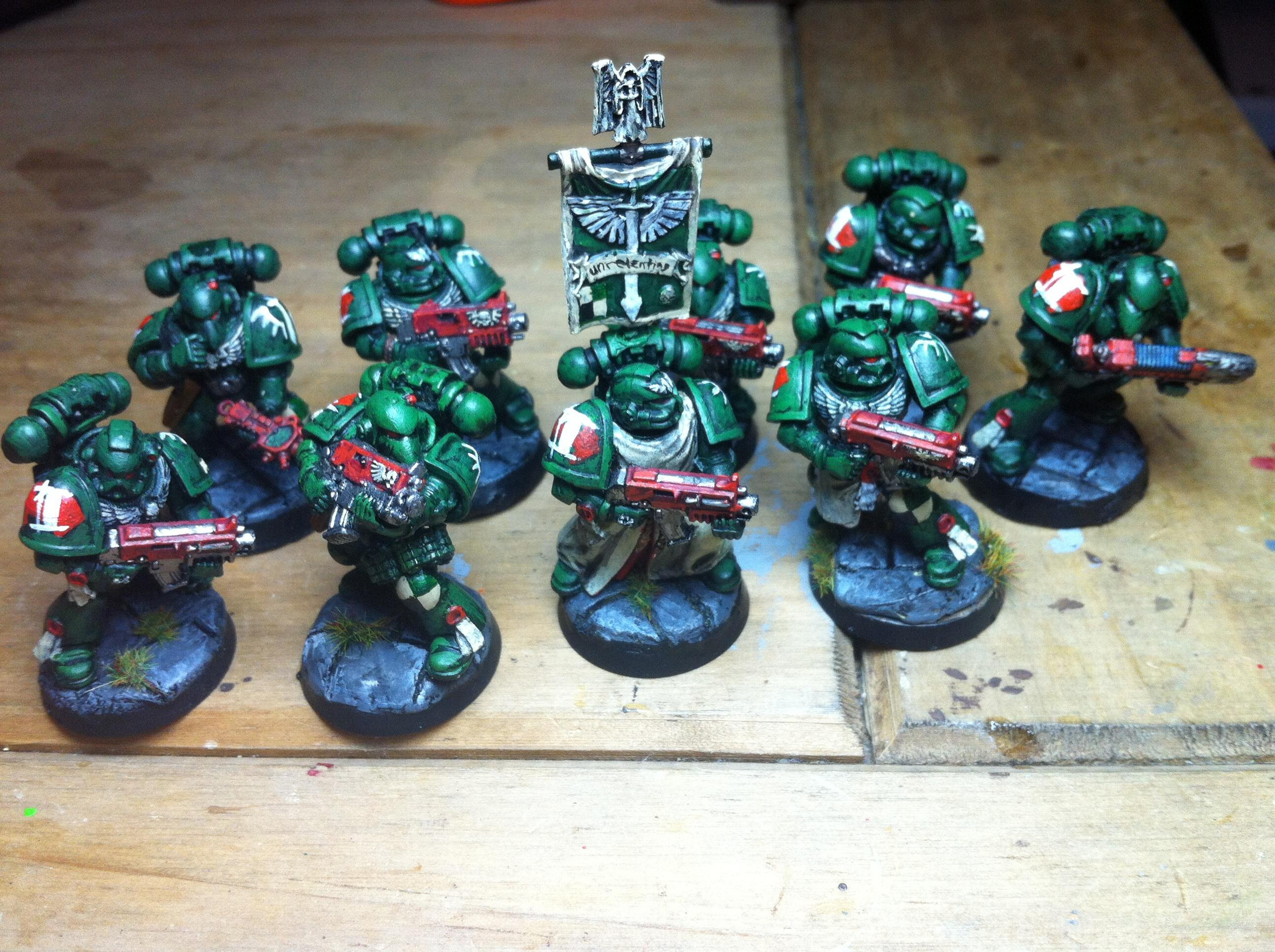 5th Company, Bolter, Dark Angels, Imperial, Imperium, Lbsf, Mankind, Painted, Power Armour, Space, Space Marines, Tactical Squad, Warhammer 40,000
