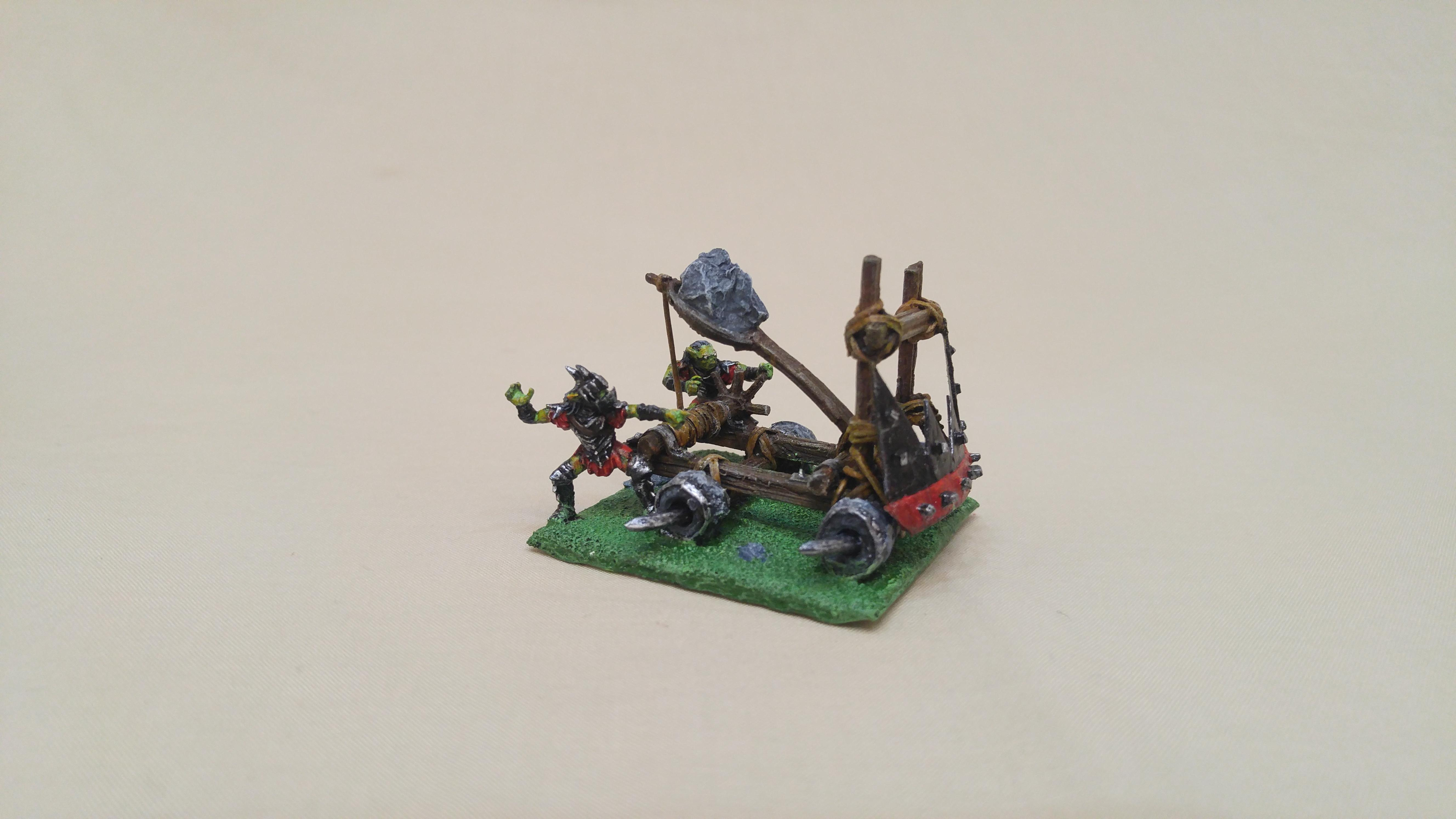 Big Rock Thrower, Catapult, Cheap, Em4, Goblins, Kings Of War, Kow, Lord Of The Rings, Moria Goblin, Orcs, Orks, Scratch Build, Sprue