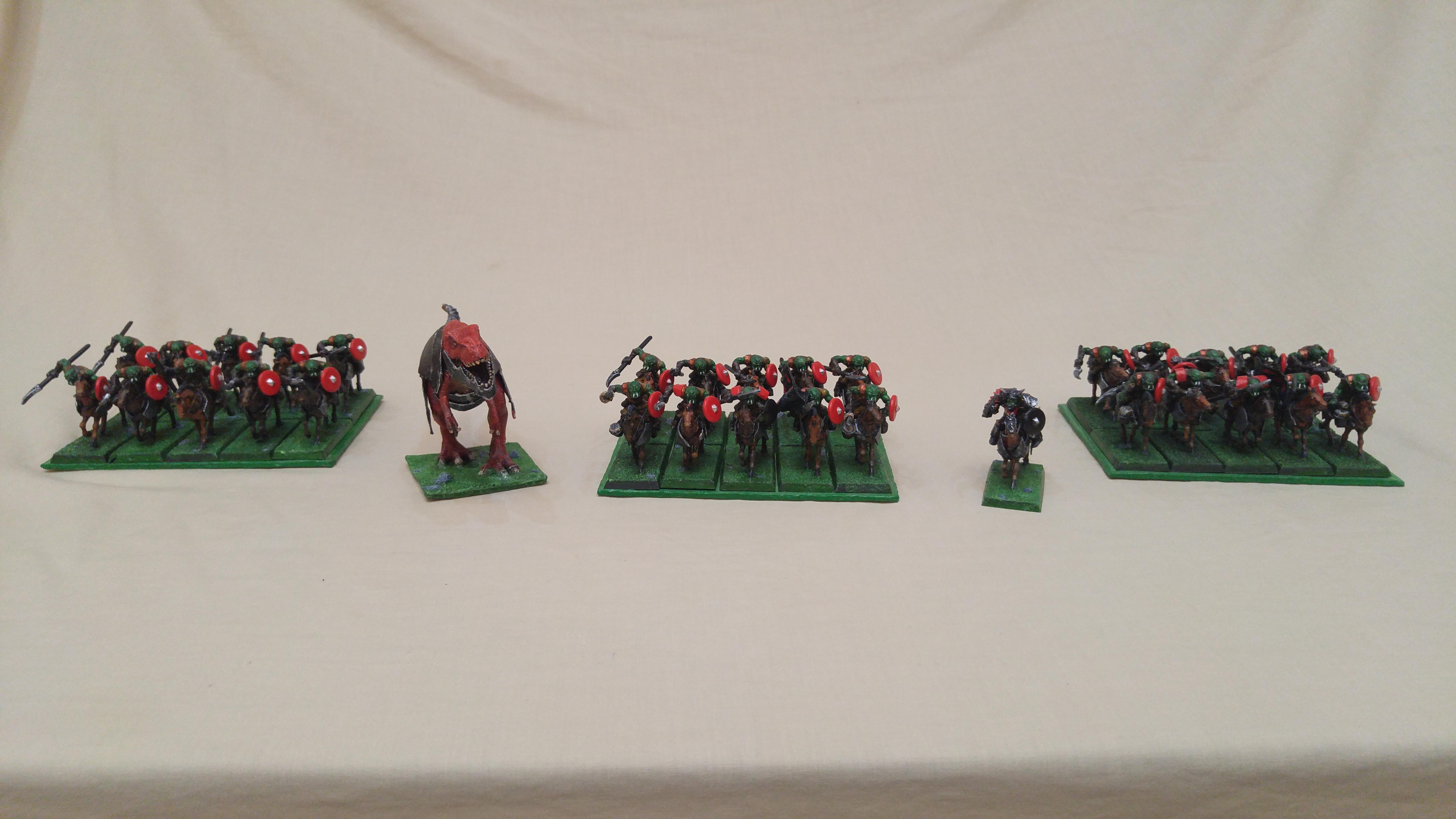 Cavalry, Cheap, Dinosaur, Em4, Kings Of War, Kow, Krudger, Orcs, Orks, Toy