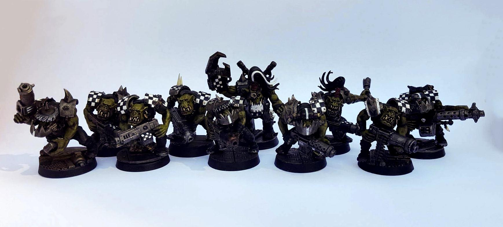 'ard Boys, Armor, Battle-worn, Checks, Damage, Dusty, Goff, Goffs, Orks, Realistic, Rusty, Shoota Boyz, Shootas