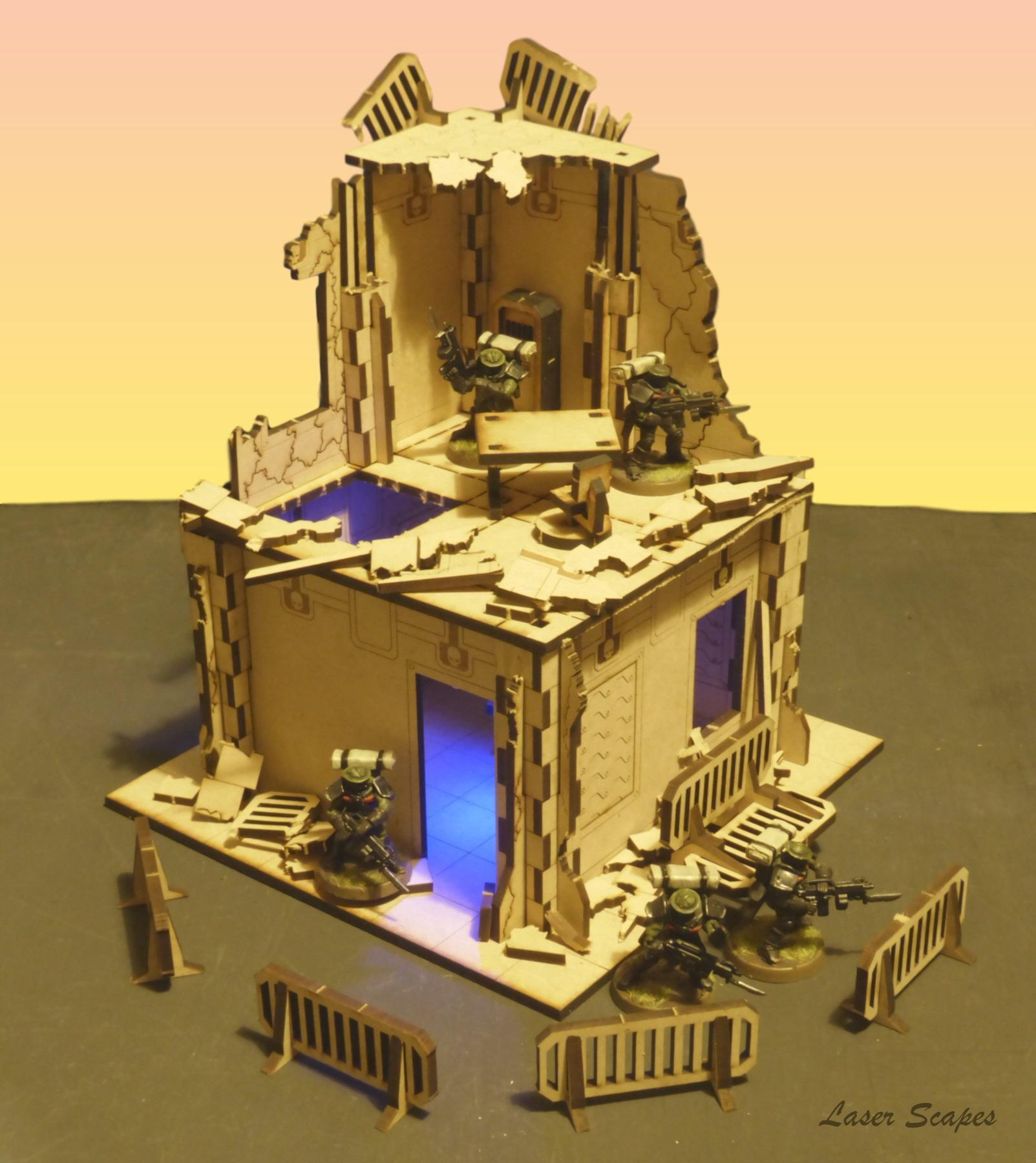 Buildings, Cities Of Death, City, Laser Cut, Laser-cut, Ruin, Ruins, Terrain
