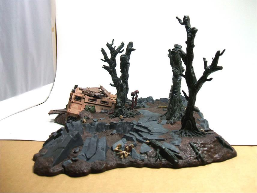 Battlescape, Crater, Rhino, Ruined, Terrain, Warhammer 40,000
