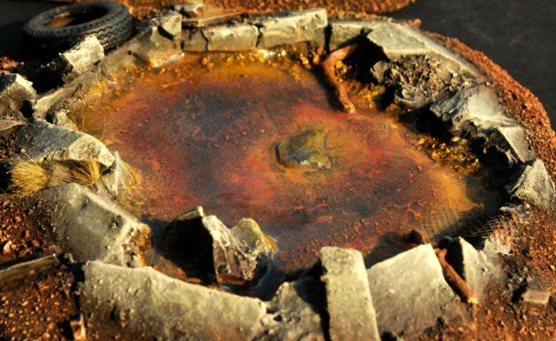 Craters, Necromunda, Post-apoc, Post-apocalyptic, Scratch Build, Terrain, Trash, Warhammer 40,000, Warmachine