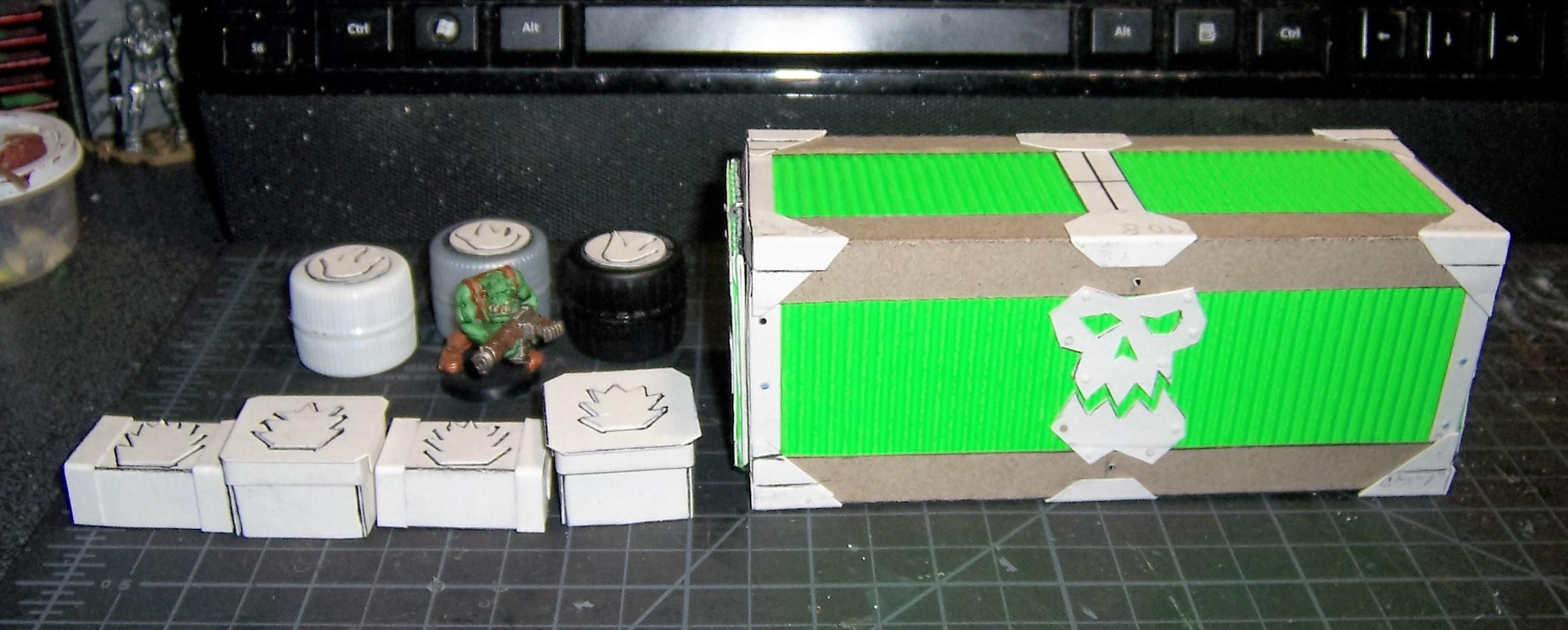 Ammo Dump, Armored, Cargo, Containers, Munitorum, Orks, Scratch Build, Supplies