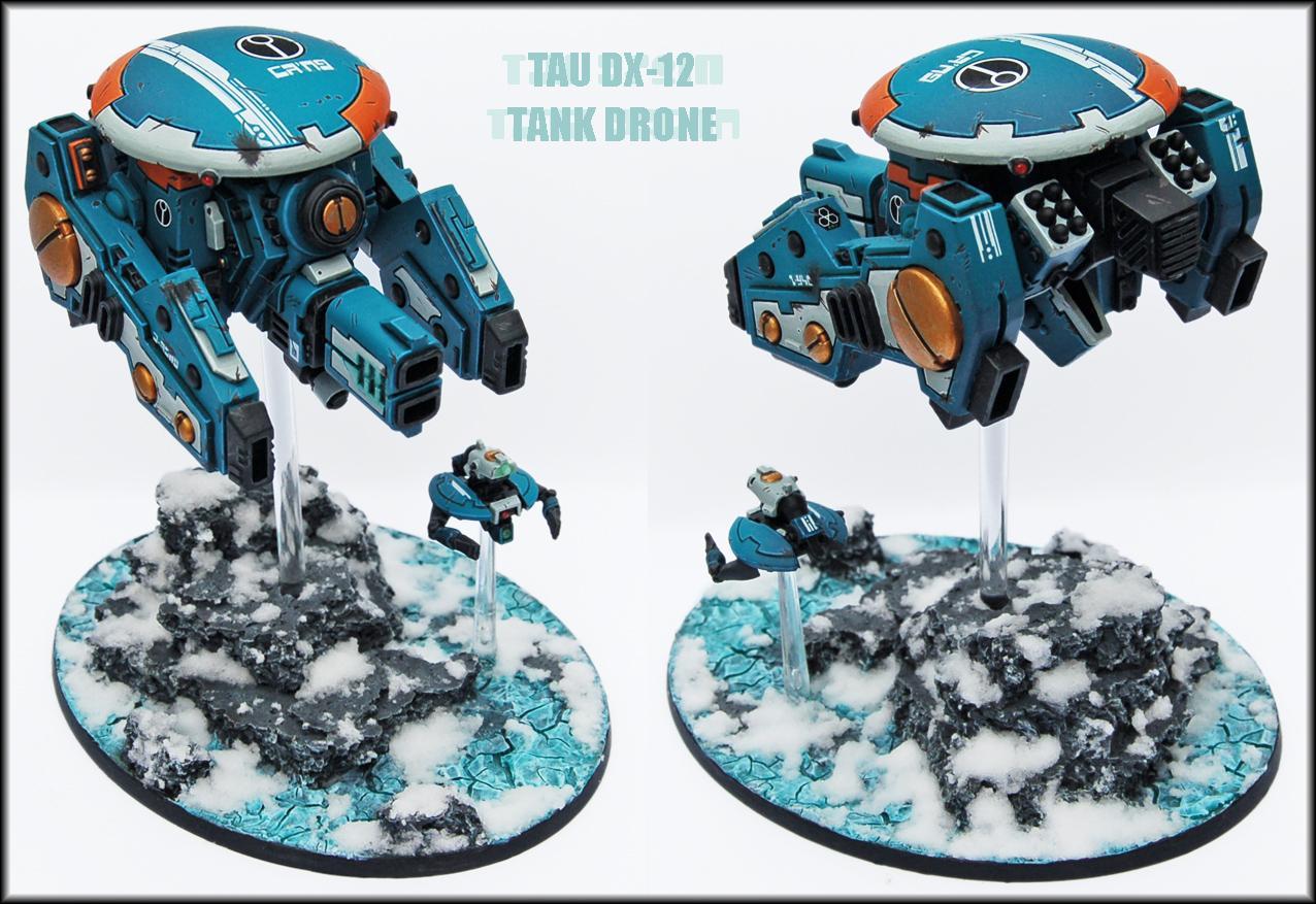 Conversion, Drone, Drones, Earth Caste, Engineer Drone, Hammerhead, Riptide, Tank, Tau, Tau Empire, Warhammer 40,000, Warhammer Fantasy