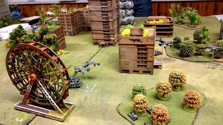 Dropzone Commander, Dzc, Game Table, Overgrown, Rural, Terrain, Ucm