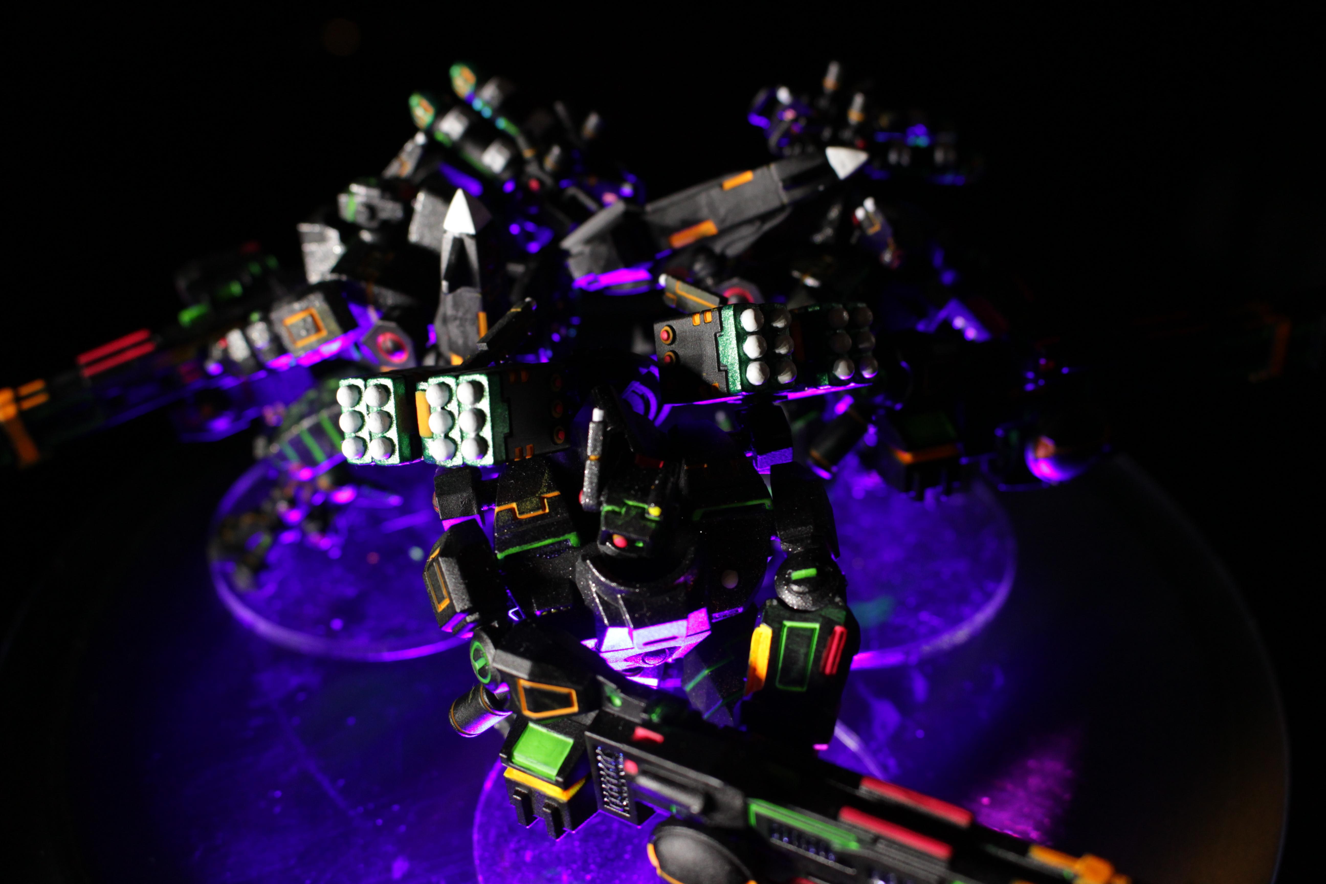 Army, Broadsides, Group, Ke'lshan, Neon, Pathfinders, Tau, Tron, Warhammer 40,000, Xv