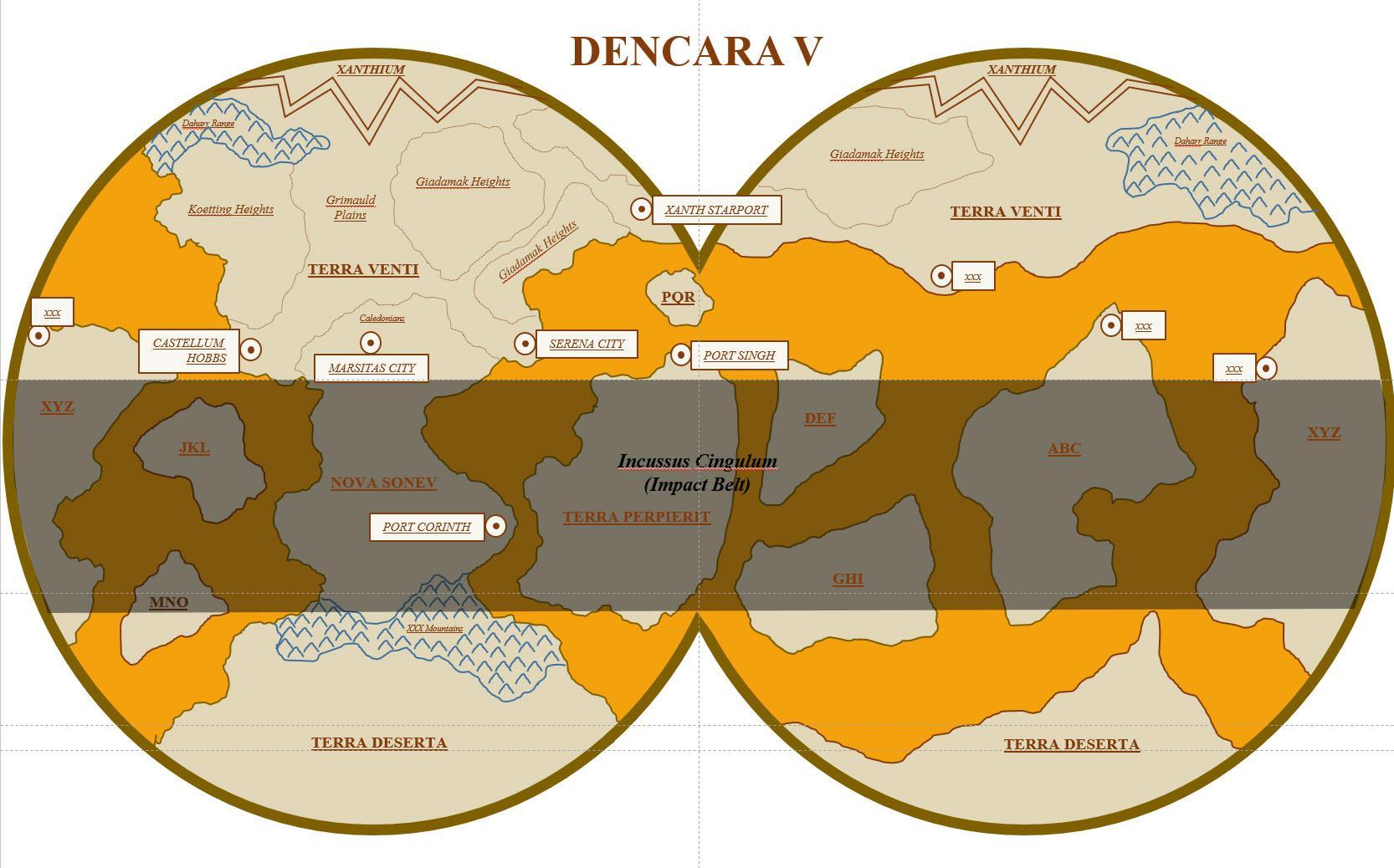 Map of Dencara V