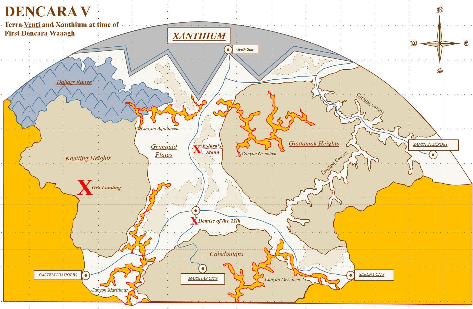 Map of hnorthern Dencara