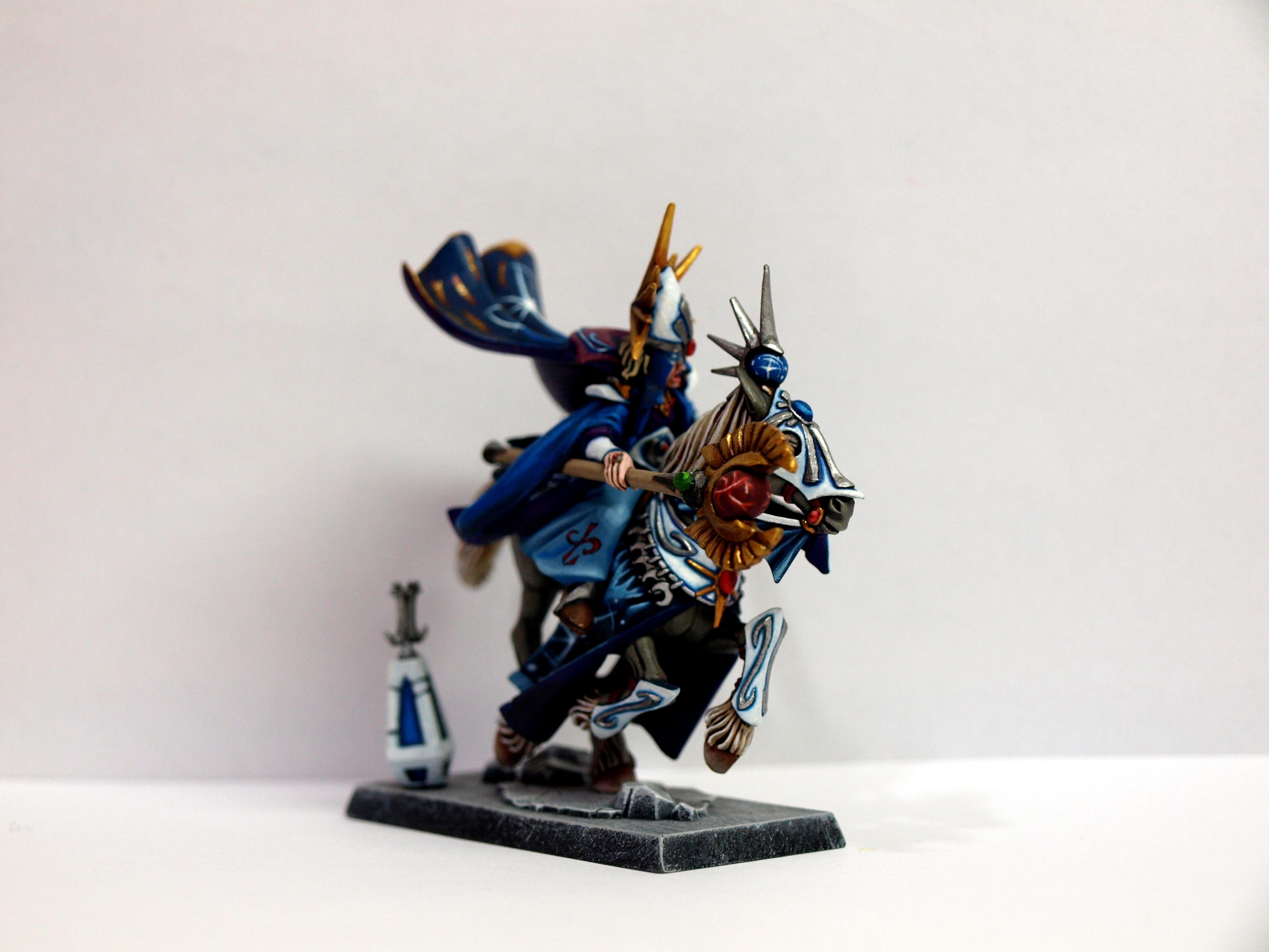 Age Of Sigmar, High Elves, Mounted Mage, Painting, Warhammer Fantasy