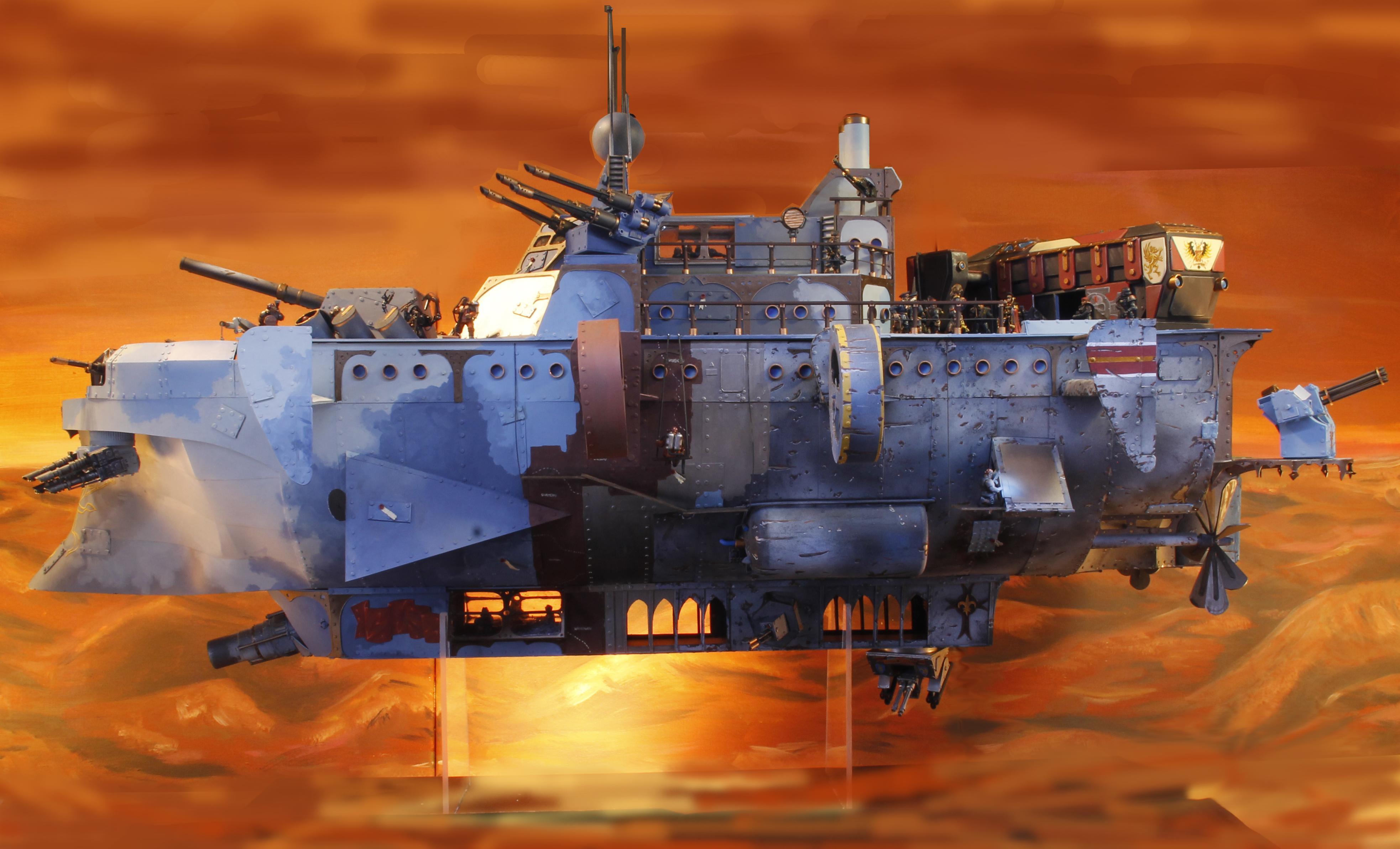 Airship, Imperial Guard, Scratch Build, Steam Punk