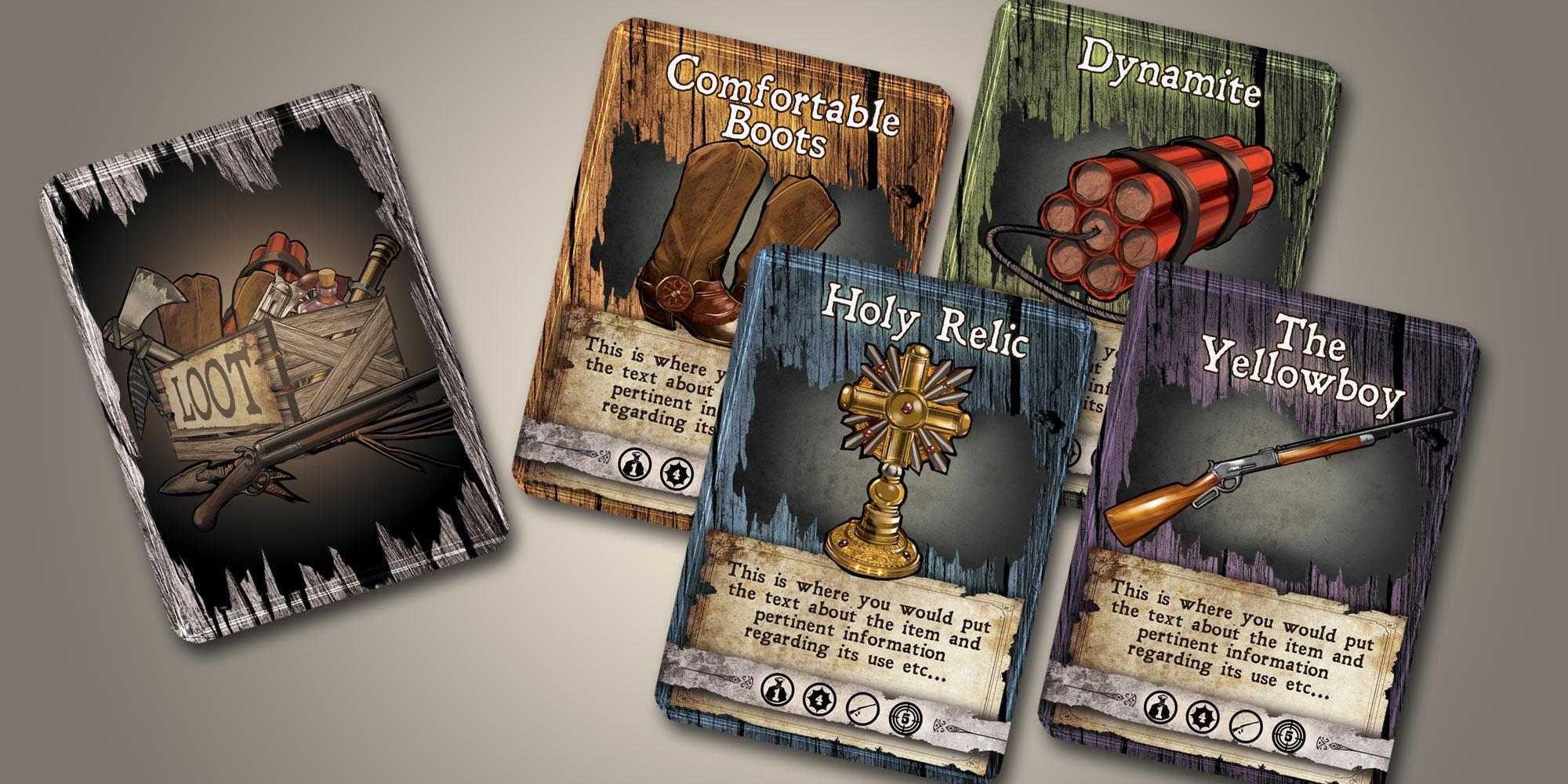 Sample loot cards