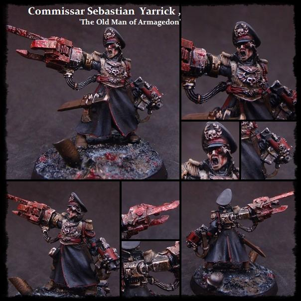 Armageddon, Commissar, Headquarters, Imperial Guard, Special Character, Steel Legion, Weathered, Yarrick