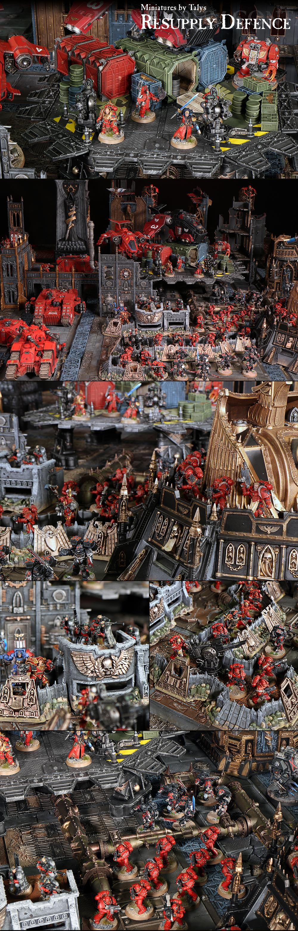 Blood Angels, Munitorum Containers, Pro-painted, Space Marines, Wall Of Martyrs