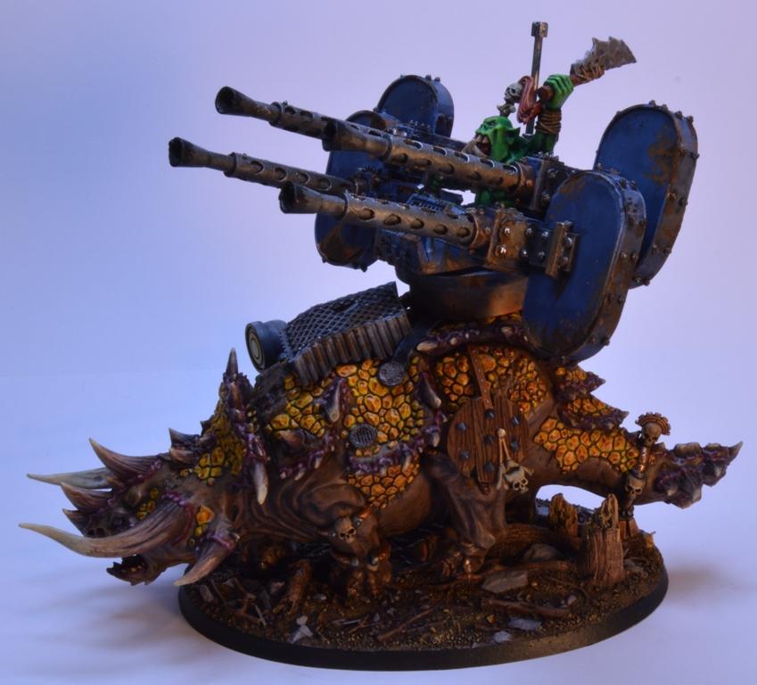 Aa Gun, Conversion, Dakka Dakka, Orcs, Ork Stegadon, Orks, Savage, Snakebite