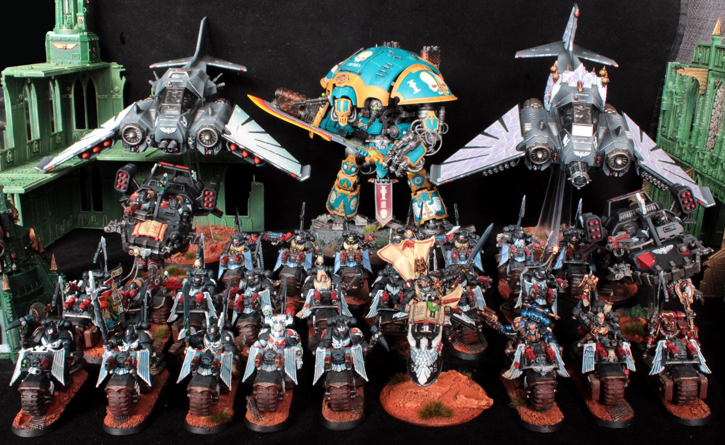 Angel, Arkaal, Attack Bike, Bike, Dark, Flyer, Knights, Land, Nephilim, Ravenwing, Sammael, Space, Space Marines, Speeder, Talon, Warhammer 40,000, Warhammer Fantasy