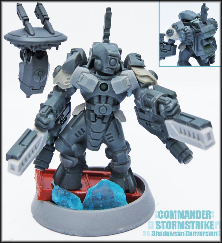 Command Drone, Commander, Conversion, Drone, Fusion Blaster, Fusion Blasters, Shadowsun, Shas'o, Stealthsuit, Tau, Tau Empire, Warhammer 40,000