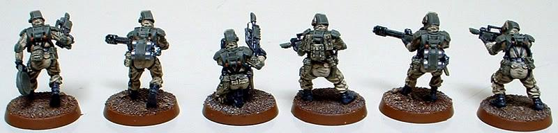Astra Militarum, Captain Brown, Drop Troops, Elysian, Elysian Drop Troopers Special Weapons Squad, Imperial Guard