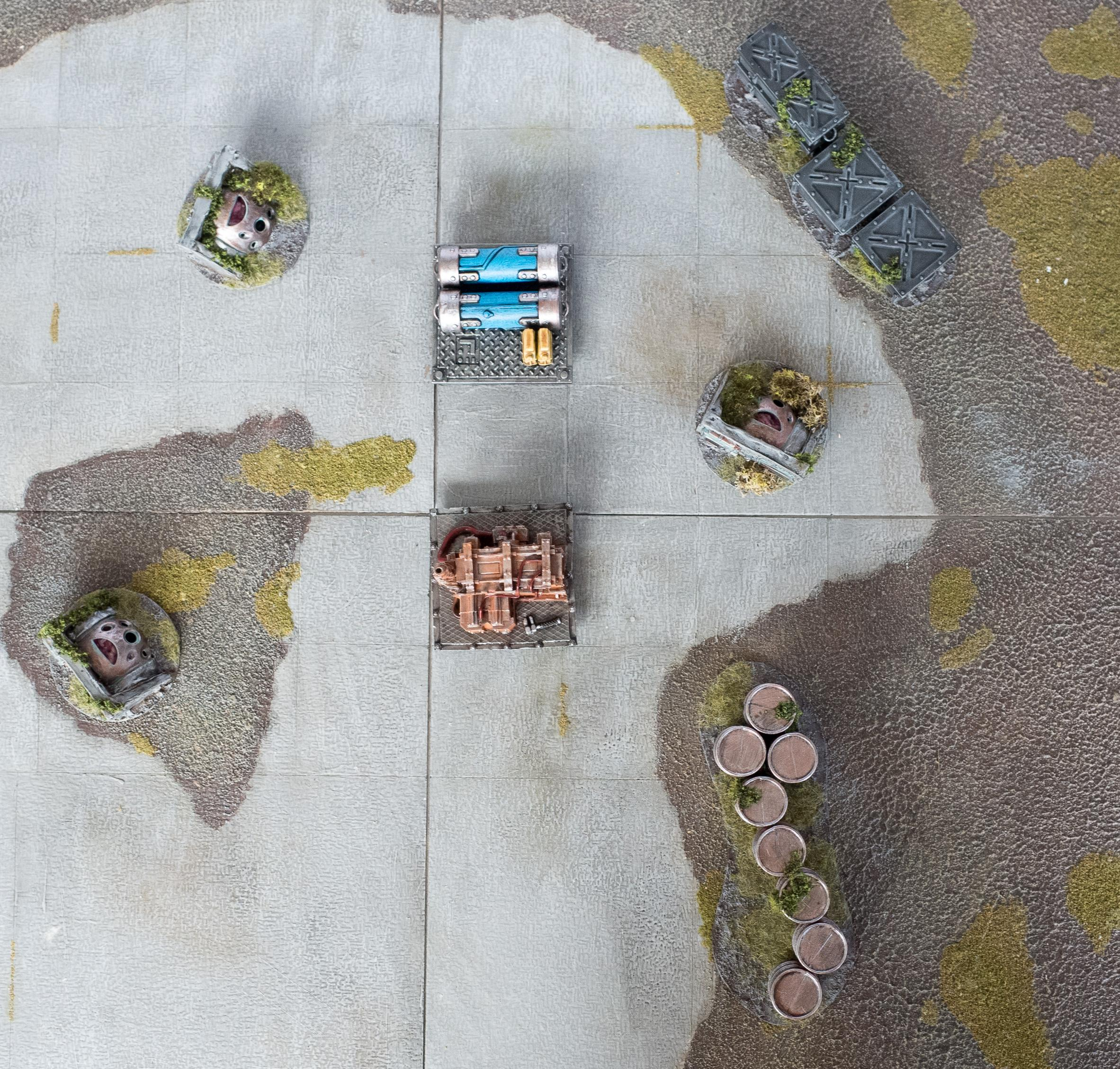 Cybel Refinery Markers, Maelstrom's Edge, Objective Marker, Obstacles, Terrain