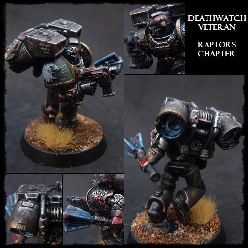 Deathwatch, Raptors, Space Marines, Vanguard, Warhammer 40,000, Weathered