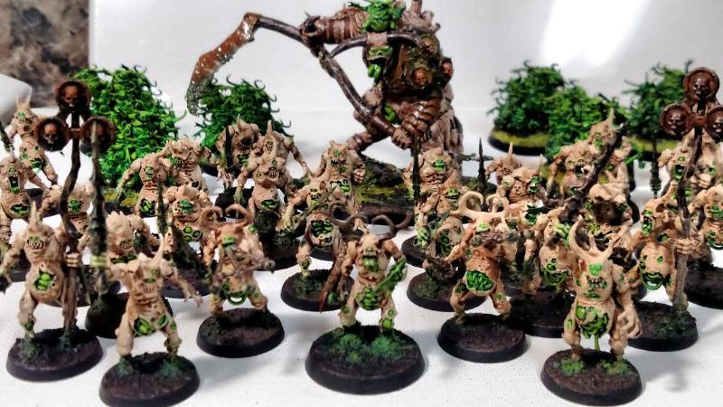 Age Of Sigmar, Army, Bone, Green, Nurgle, Painted, Rust, Warhammer 40,000, Warhammer Fantasy, White
