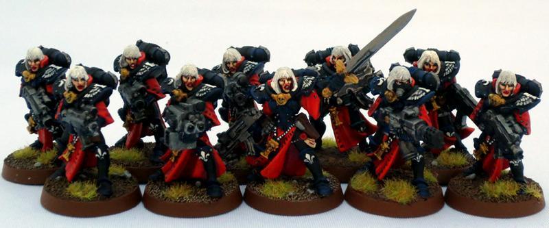 Adepta Sororitas, Captain Brown, Sisters Of Battle, Sisters Of Battle Squad One