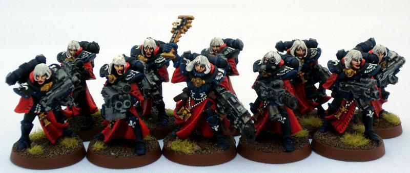 Adepta Sororitas, Captain Brown, Sisters Of Battle, Sisters Of Battle Squad Two