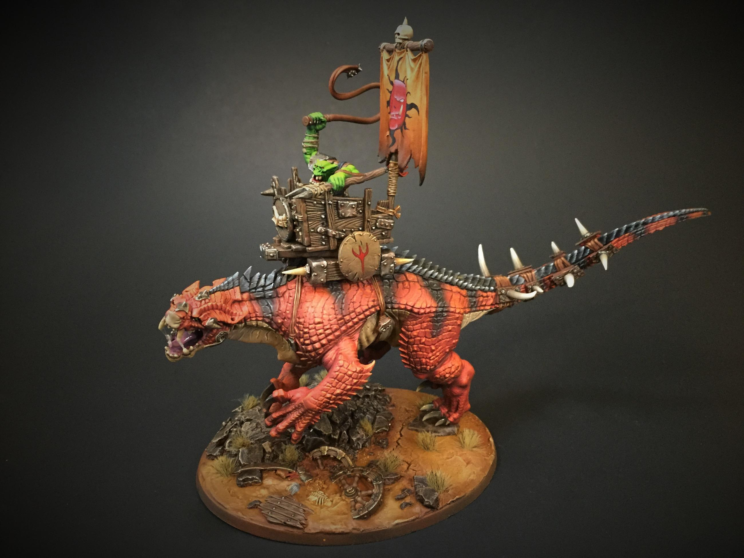 Dinosaur, Orcs, Warhammer Fantasy