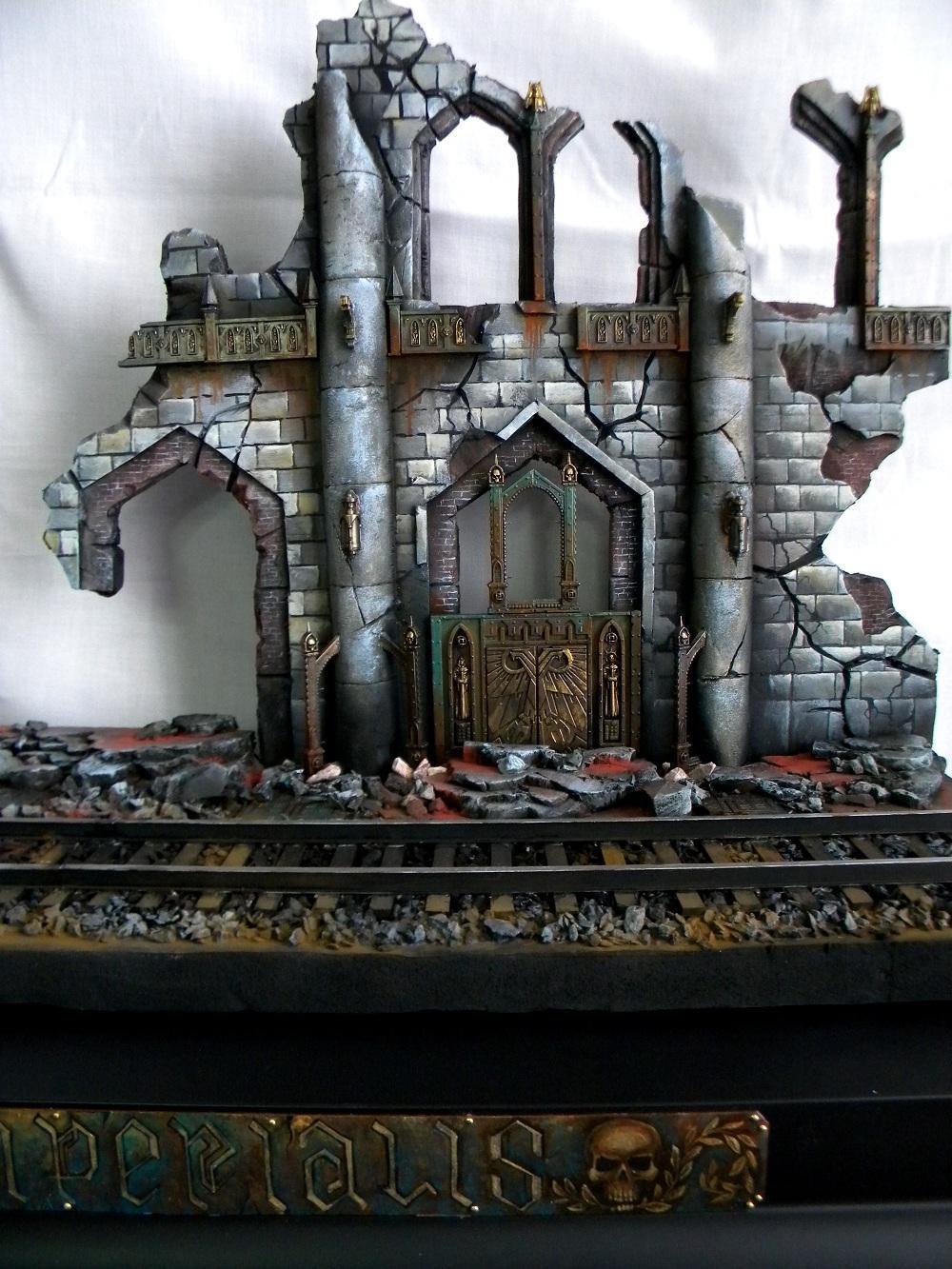 Diorama, Ruins, Train