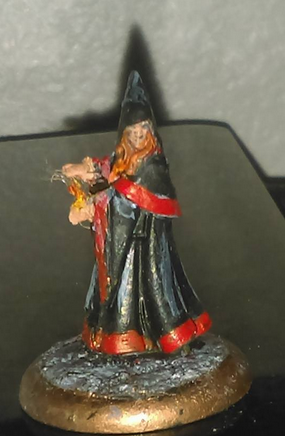 Flame Sorceress preliminary painting/modeling