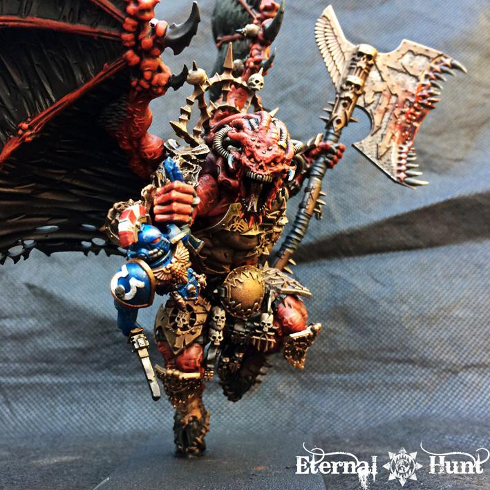 30k, Angron, Chaos, Chaos Daemons, Chaos Space Marines, Conversion, Daemon Prince, Daemon-primarch, Daemons, Horus Heresy, Khorne, Primarch, Warhammer 40,000, World Eaters