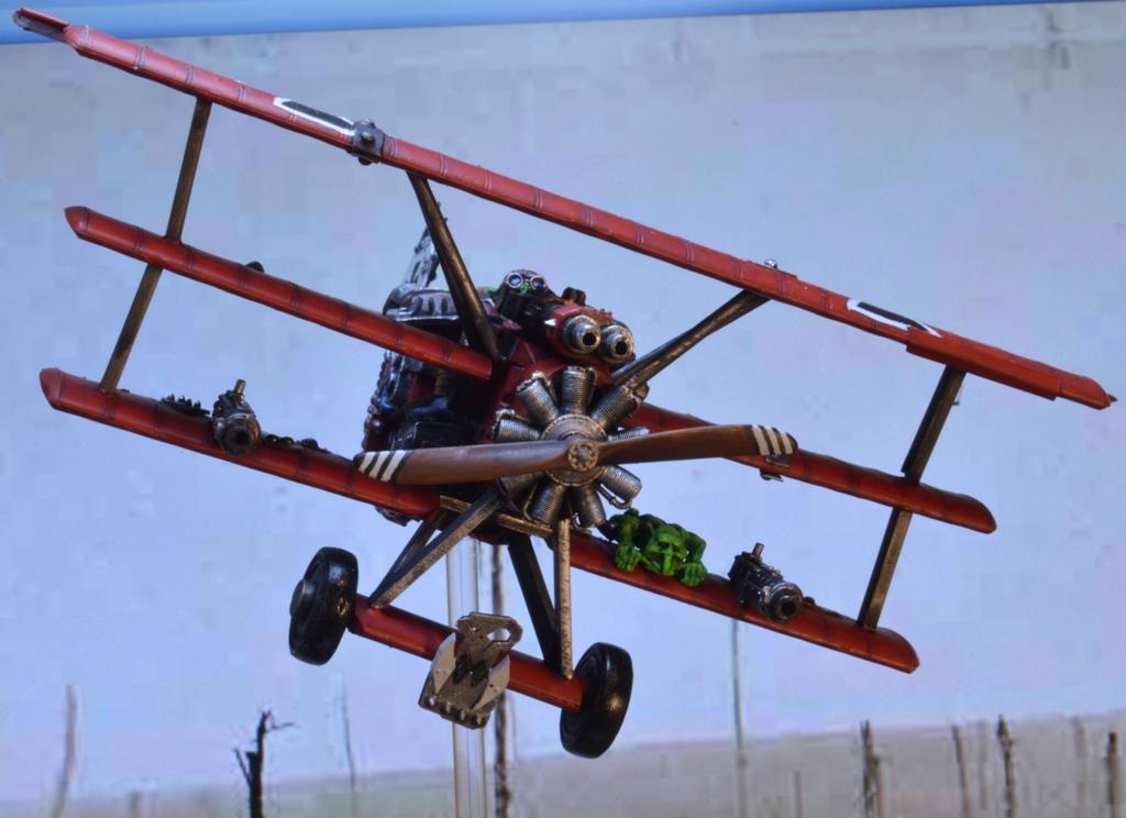 Fokker, Ork Red Baron, Red, Triplane