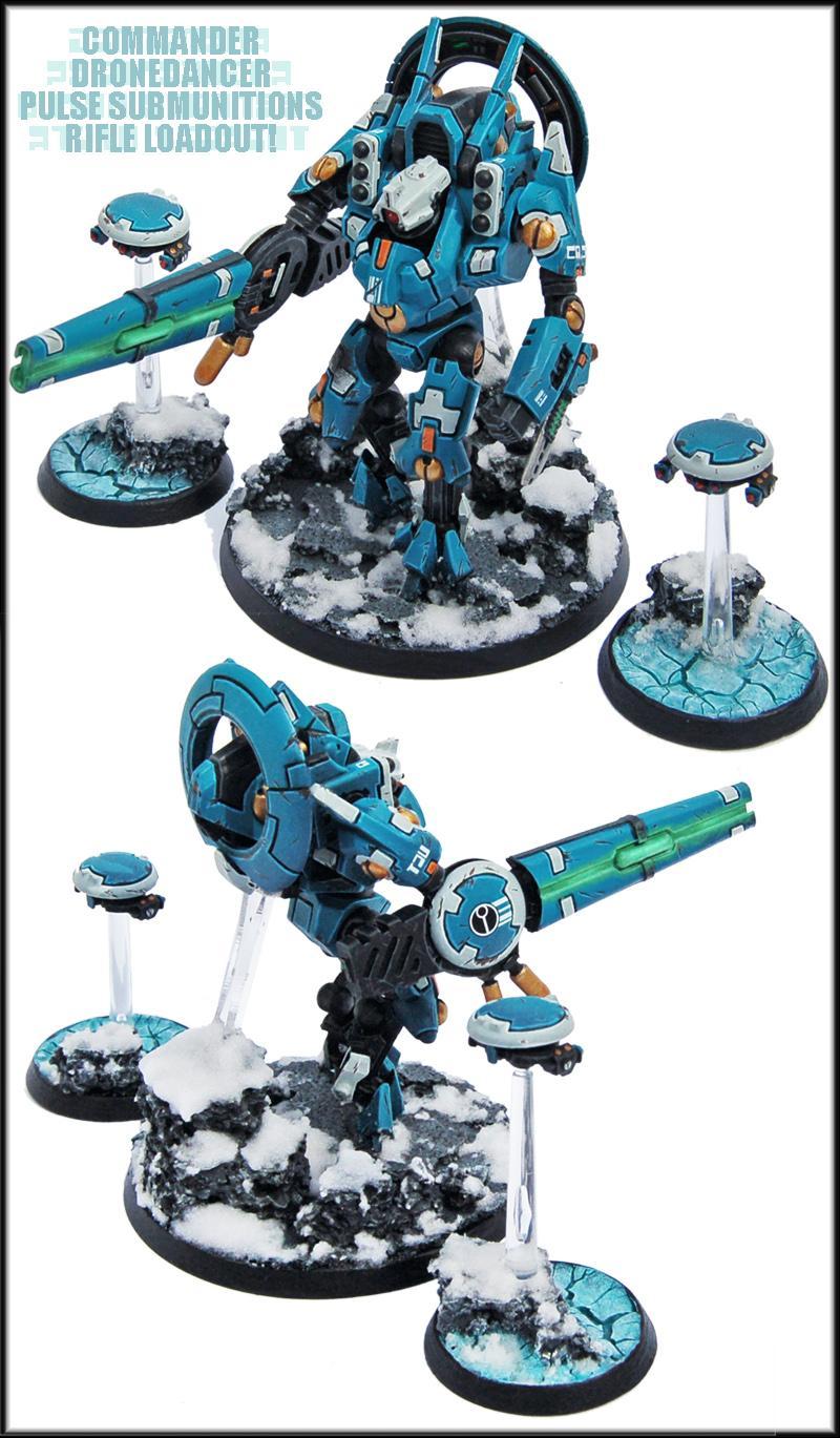 Commander, Crisis Battlesuit, Forge World, Marker Drone, Marker Drones, Missile Pod, R'alai, Sha'o'r'alai, Snow, Tau, Tau Empire, Warhammer 40,000, Xv9